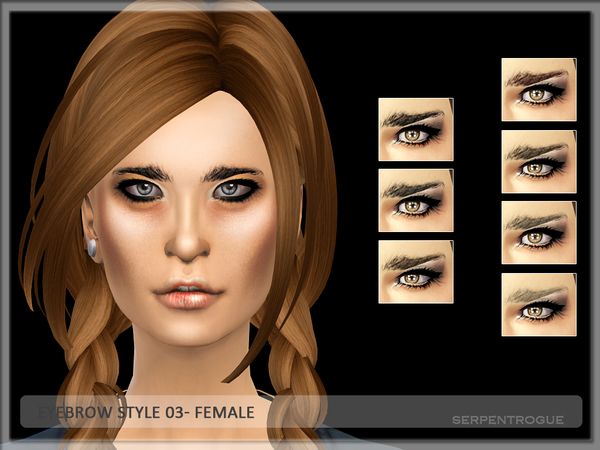 Eyebrow Style 03-female by Serpentrogue
