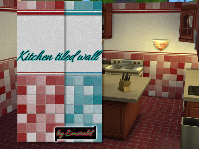 Kitchen tiled wall by emerald