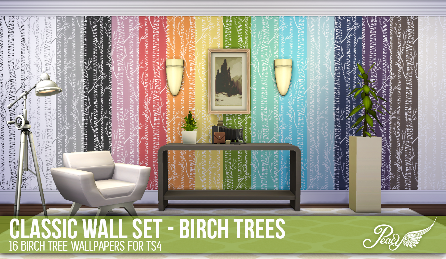Classic Wall Set - Birch Trees by Peacemaker ic