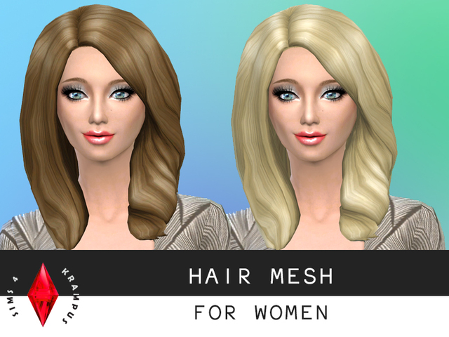 The Sims 4 stand alone hair mesh edit for women by SIms4Krampus
