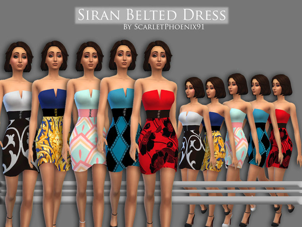 Siran Belted Dress by scarletphoenix91