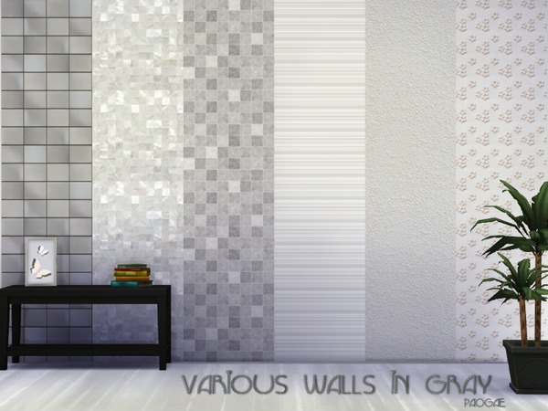 Various walls in gray by Paogae