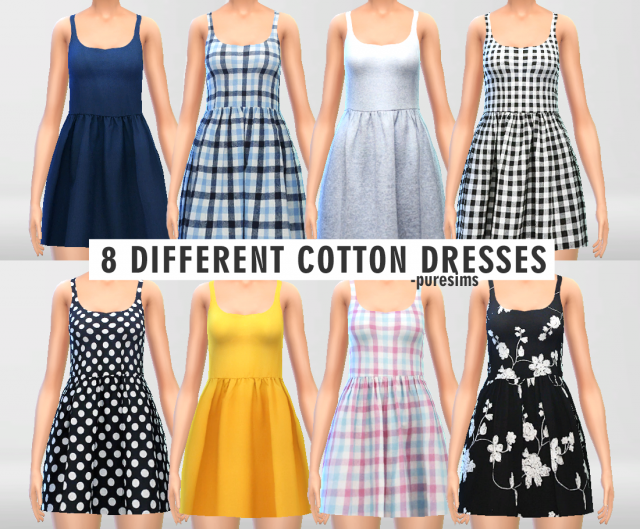 Cotton Dresses Set by Puresims