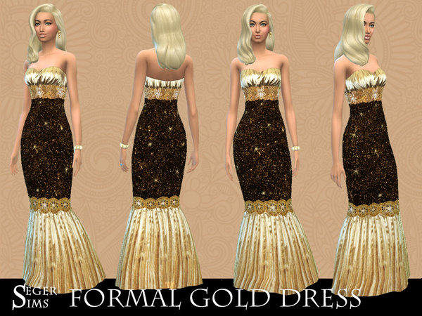 Formal Gold Dress by SegerSims