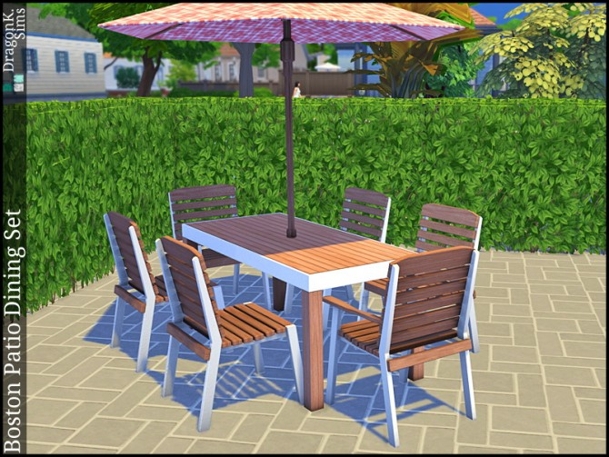Boston Patio Dining Set at DragonK Sims