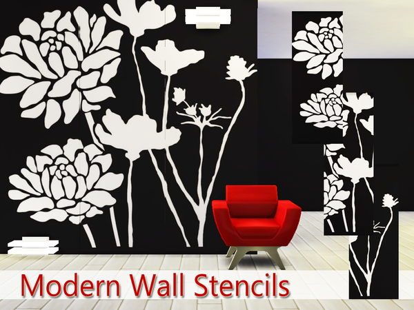 Modern Wall Stencils by Pinkzombiecupcakes