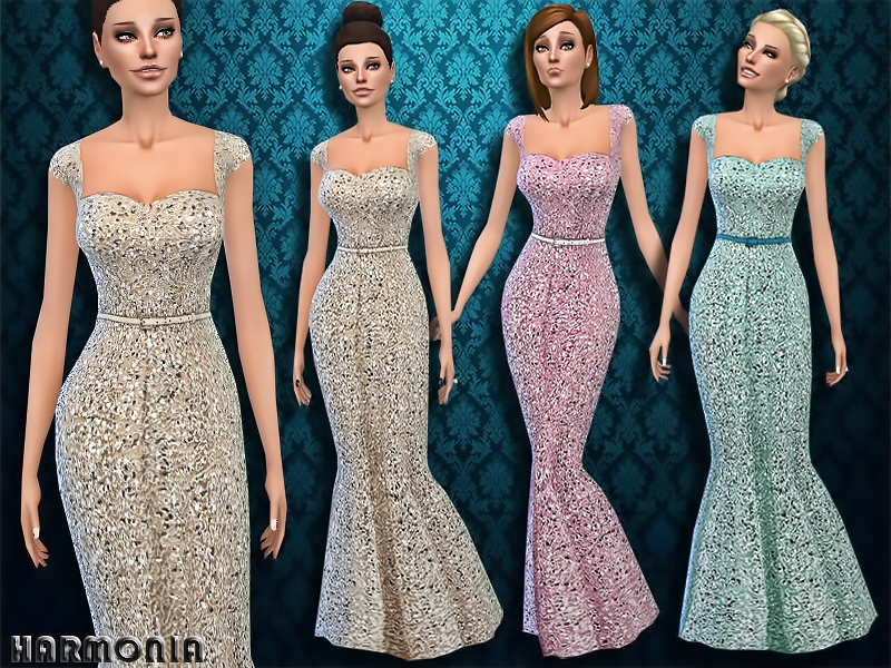 Intensely Embellished Gown by Harmonia