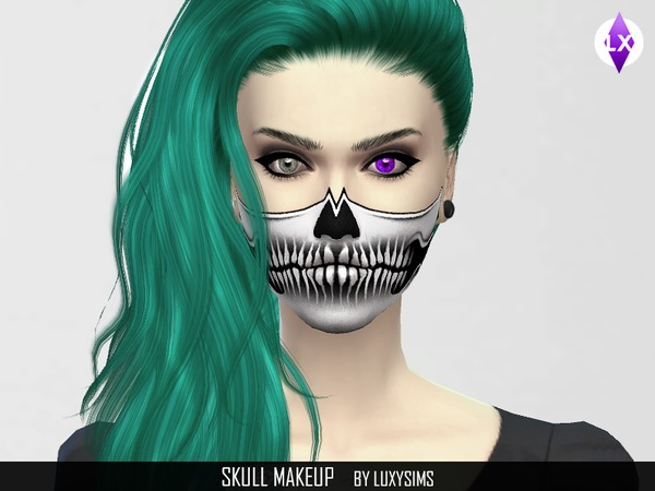 Skull Makeup by LuxySims3
