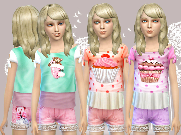 Female child set sweet days by Pinkzombiecupcakes