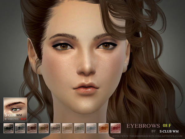 S-Club WM thesims4 Eyebrows08 f