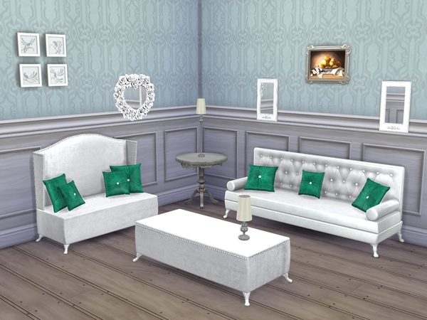 Emerald Living Room by Flovv