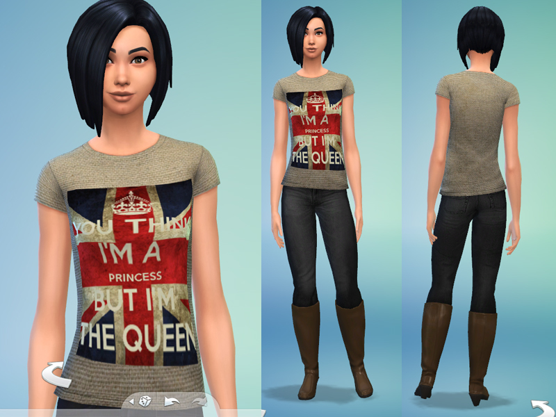 T-shirt London Queen by LovegameBAUD