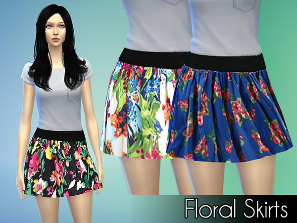 Floral Skirts by NIREsim