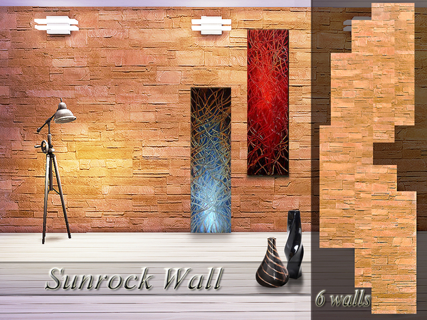 Sunrock Wall by Pinkzombiecupcakes