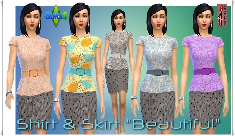"Shirt & Skirt ""Beautiful"" by Annett85"