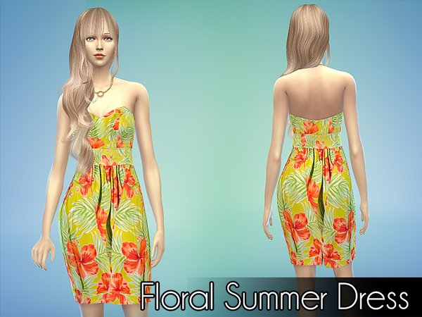 Floral Summer Dress by NIREsim