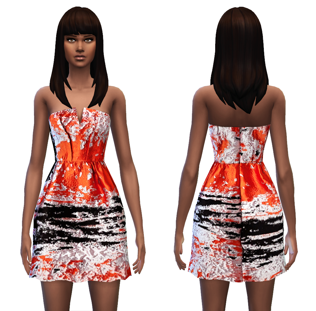 Bustier Dress 4 styles at Sim4ny