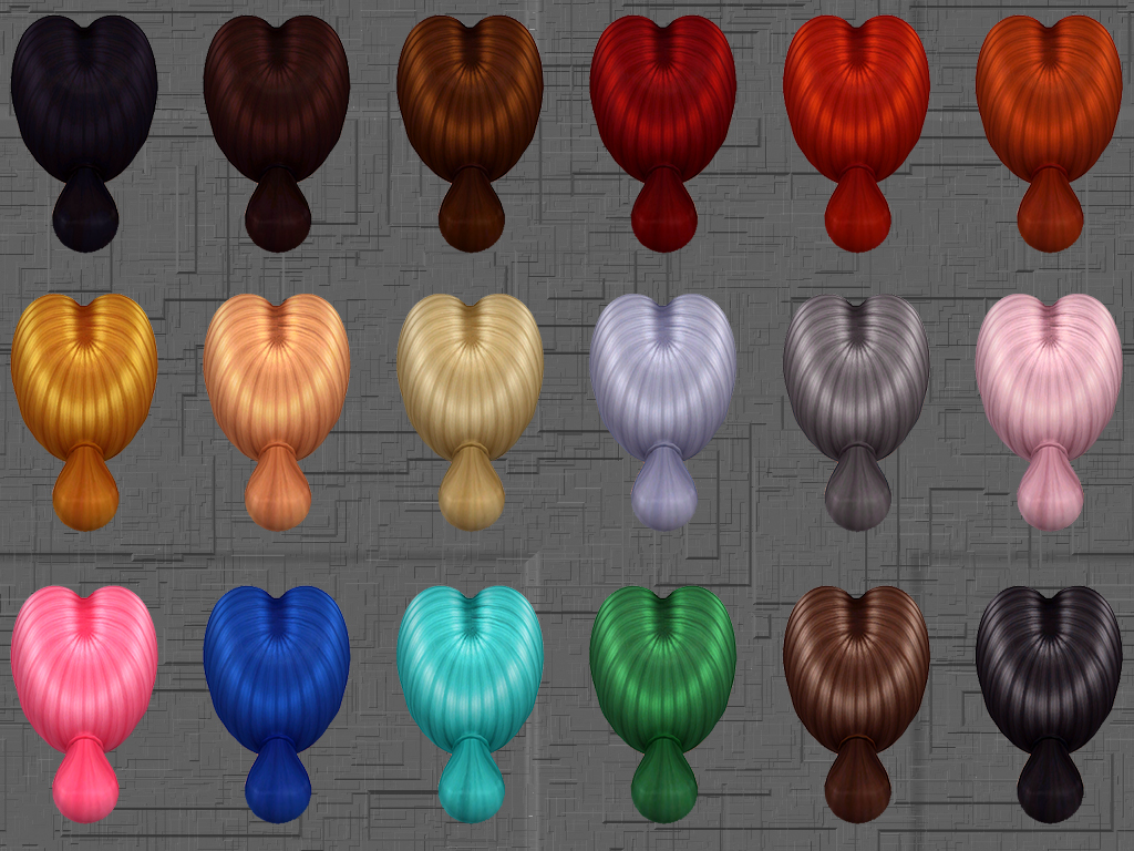 Rachael Hair 18 EA-like Colors by Notegain