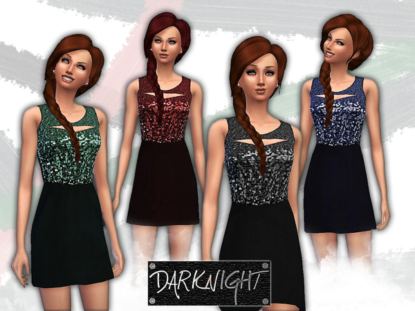 Sleeveless Sequin Blouson by DarkNighTt