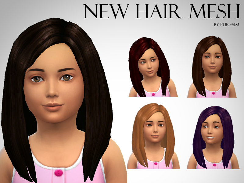 Voluminous Hair Mesh For Girls by XPureSim