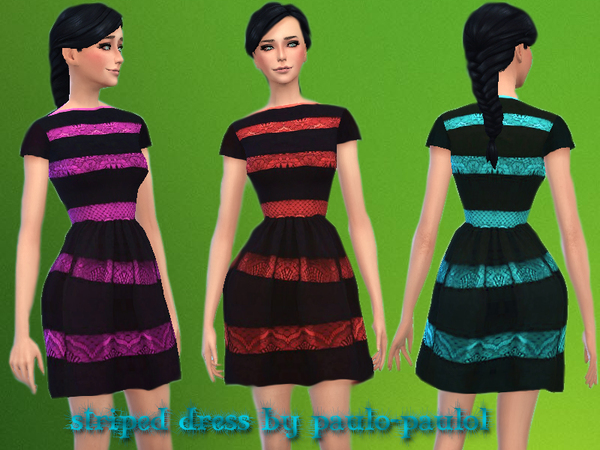 striped dress by paulo-paulol