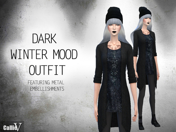 Dark Winter Mood Outfit by Callie V