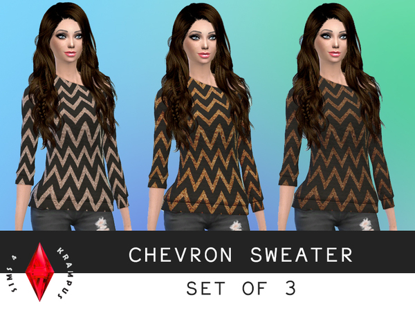 Chevron Sweater Set of 3 by SIms4Krampus