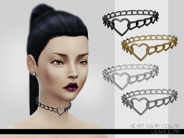 LeahLillith Heart Chain Collar by Leah Lillith