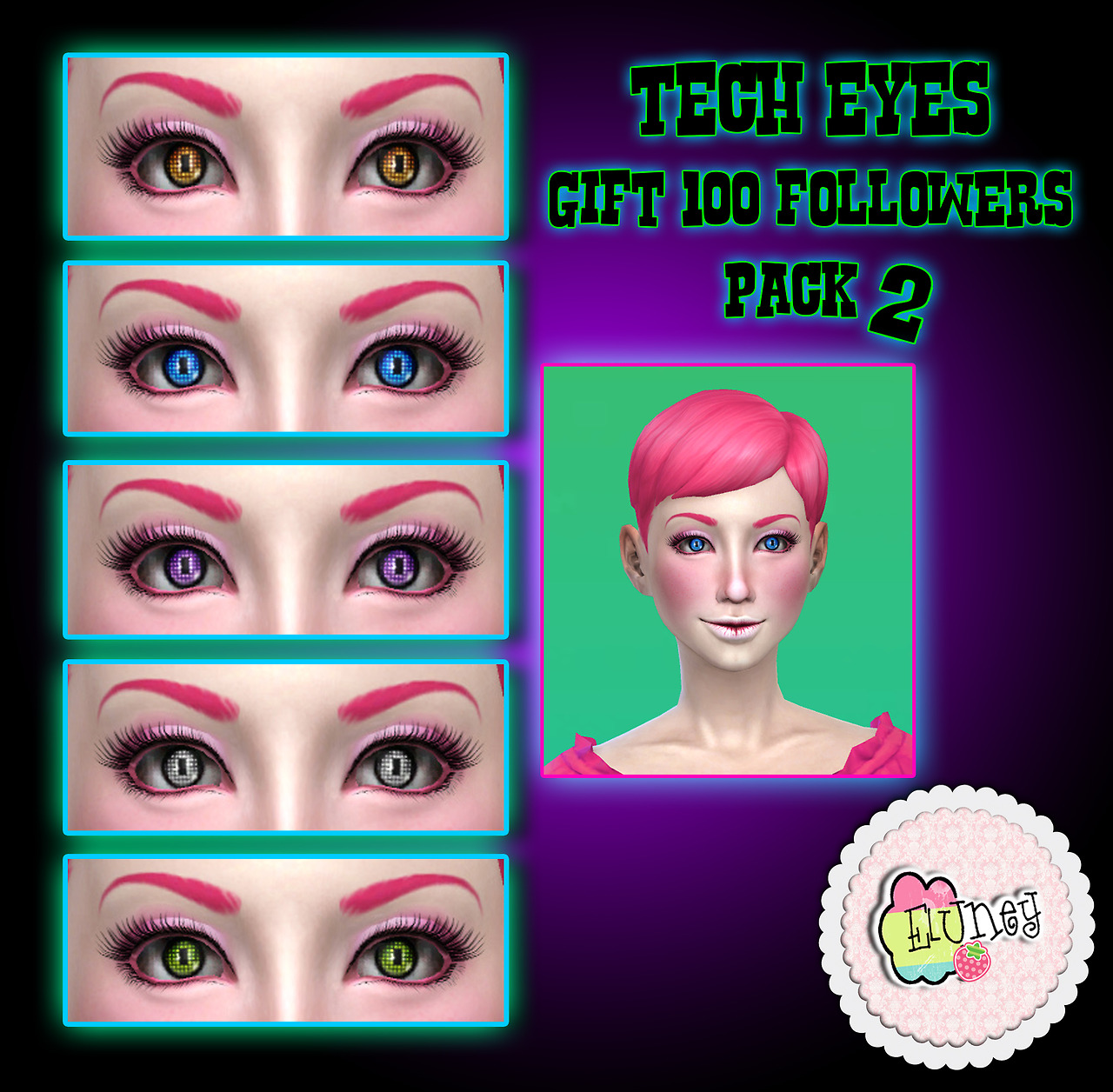 Tech Eyes pack 2 by EluneyDesign