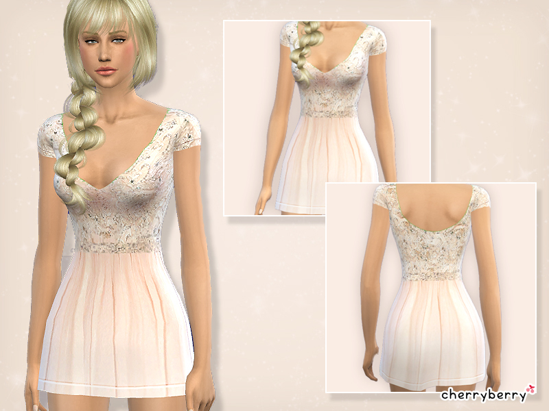 Romantic dress by CherryBerrySim