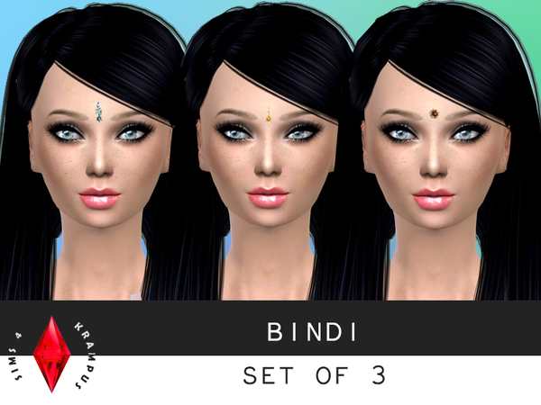 Unisex Bindi Set of 3 by SIms4Krampus