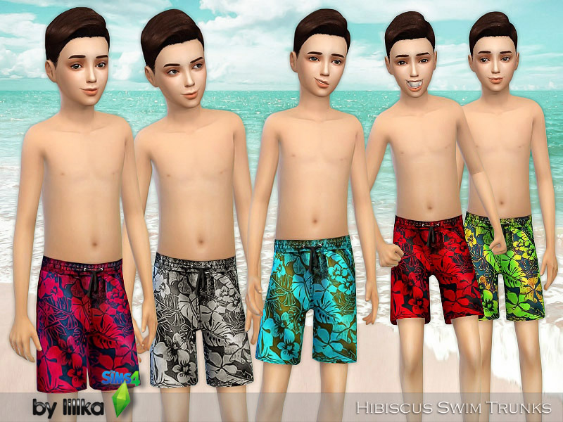 Hibiscus Swim Trunks by lillka