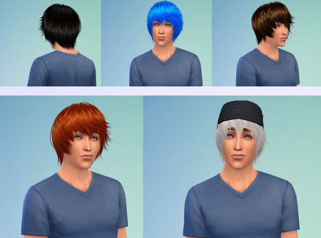 Cazy 32 Hair for Males by NessaSims