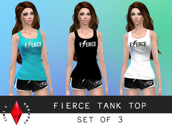 Fierce Tank Top Set of 3 by SIms4Krampus