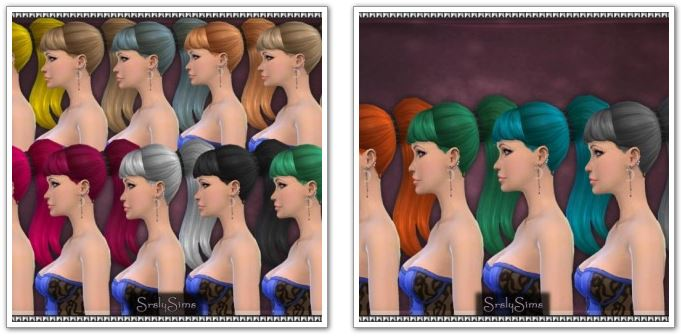 Long Ponytail Recolors at SrslySims