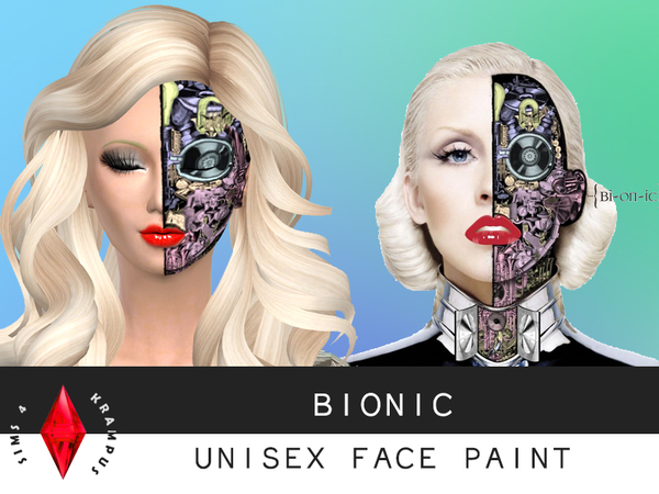 Bionic Face Paint by SIms4Krampus