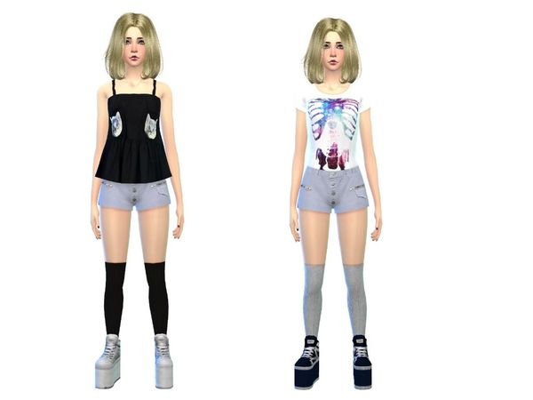 fashion set female by simsoertchen