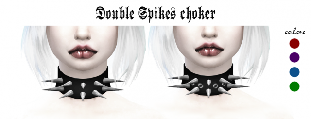 Double Spikes Choker by Ladyhayny