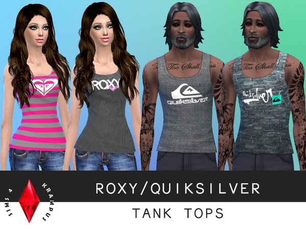 Roxy/Quiksilver Tank Tops by SIms4Krampus