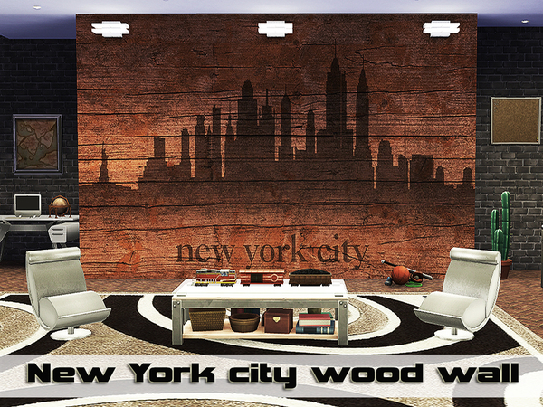 New York city wood wall by Pinkzombiecupcakes