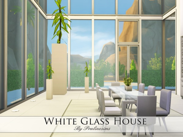 White Glass House by Pralinesims