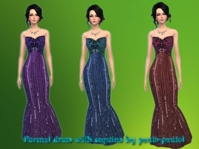 Formal dress with sequins by paulo-paulol