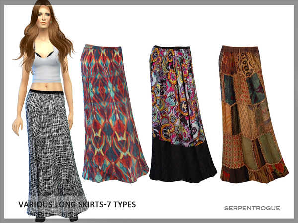 Various Long Skirts by Serpentrogue