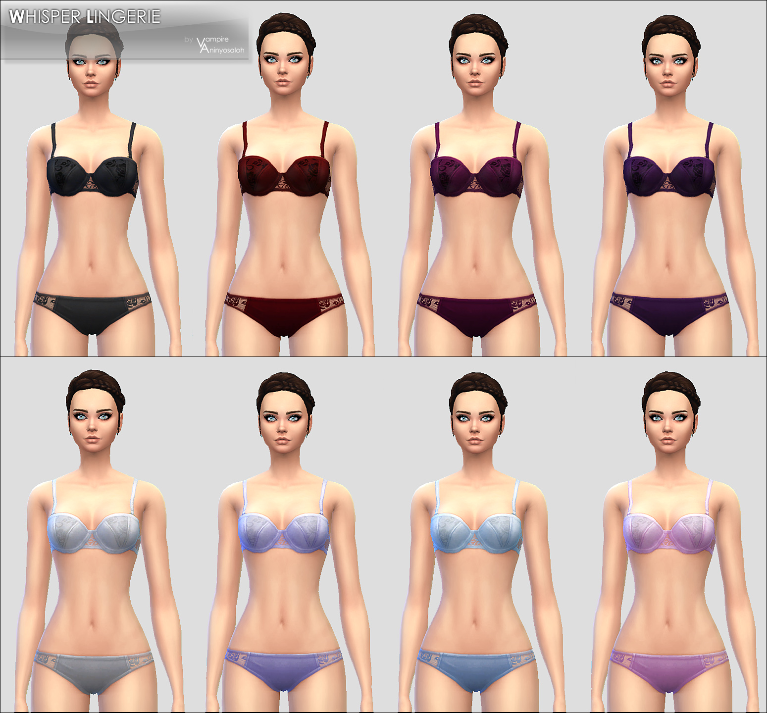 Whisper Lingerie -8 colors- by Vampire_aninyosaloh