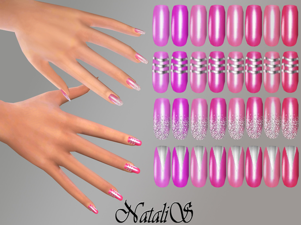 NataliS_Silver design nails collections FT-FE