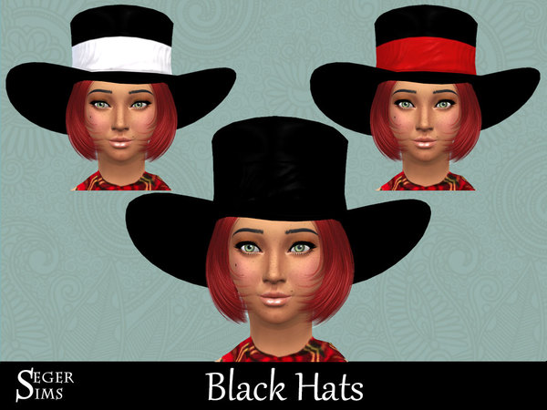 3 Black Hats by SegerSims