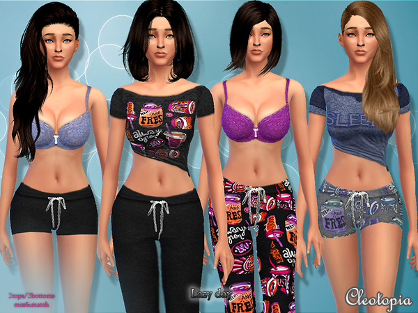 Set11- Lazy Day PJ set by Cleotopia