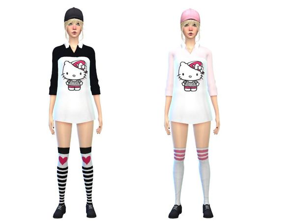 hello kitty bodyshirt new item set by simsoertchen