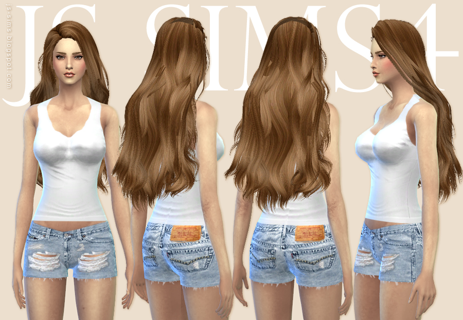 Ripped Denim Shorts and Tank Top by JS SIMS