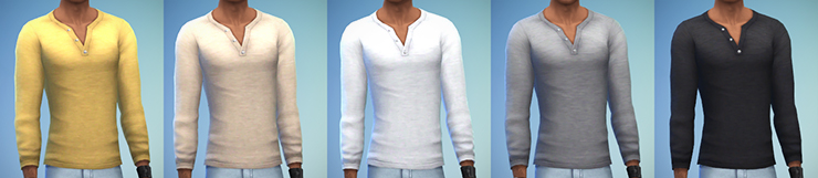 Basic Henley for Teen - Elder Males by Rope